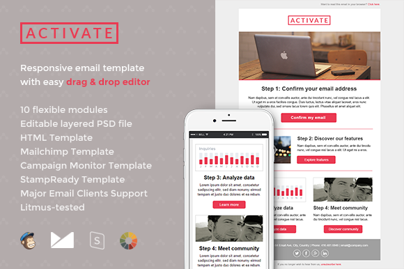 Activate email template builder email templates on for Activation email template