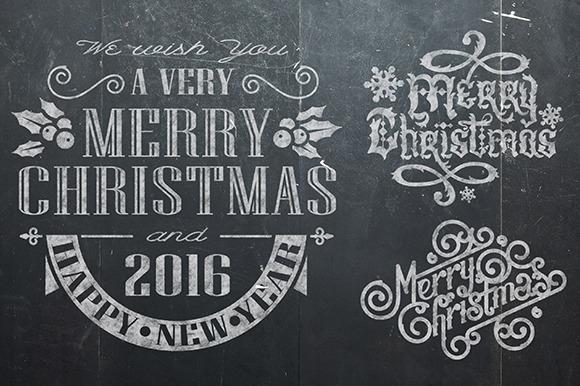 Christmas Vintage Chalk Text
