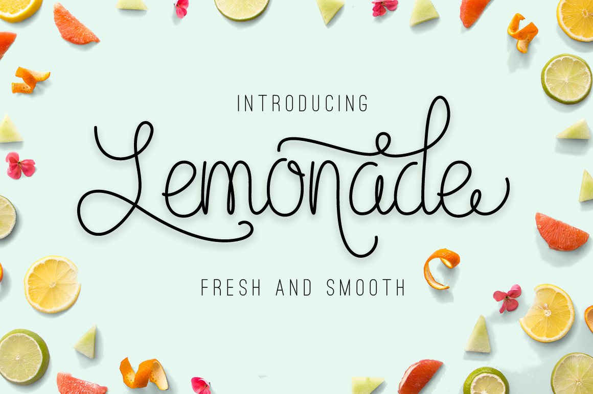 Lemonade (35% off) ~ Script Fonts on Creative Market