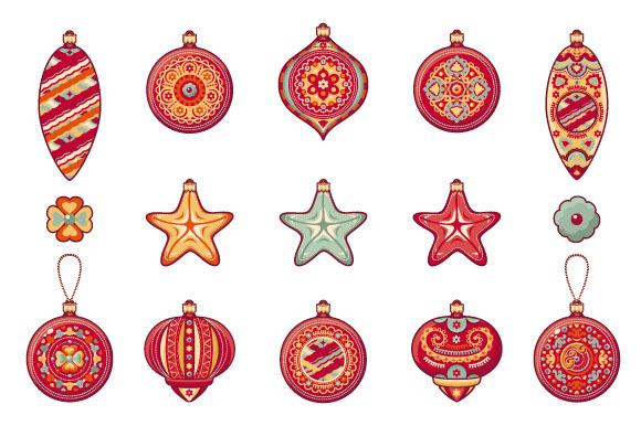 Christmas balls. Set - Objects