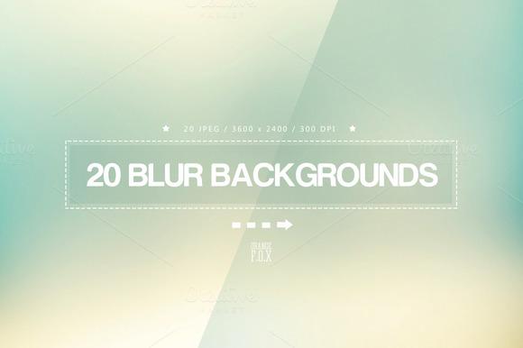 20 Light Blur Backgrounds