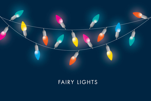 Colorful Fairy Lights Vector