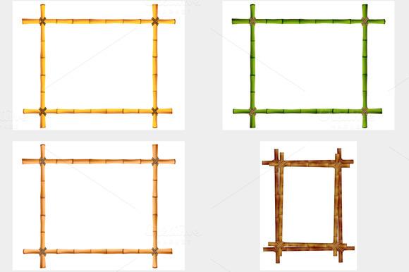 Frame Of Old Bamboo Sticks