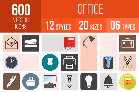 600 Office Icons