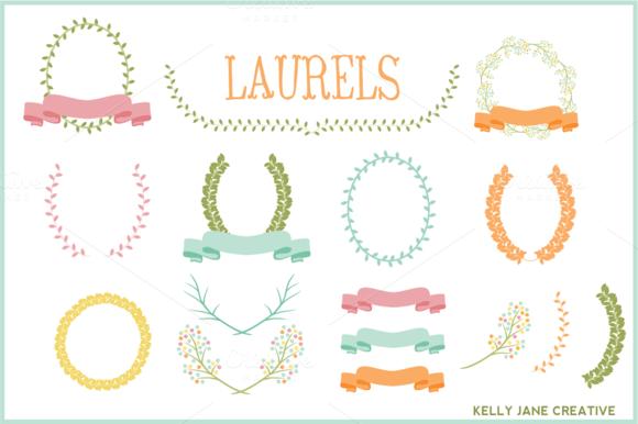 Pastel Laurels Ribbons Wreaths