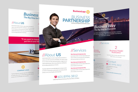 Clean minimalist corporate flyer flyer templates on creative market - Corporate flyer inspiration ...