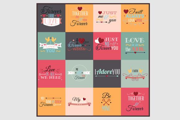 Typographic Love Set