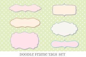 Retro Label Frames Shapes Set No 27