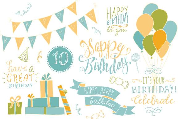 Birthday Photoshop Overlays Graphics On Creative Market