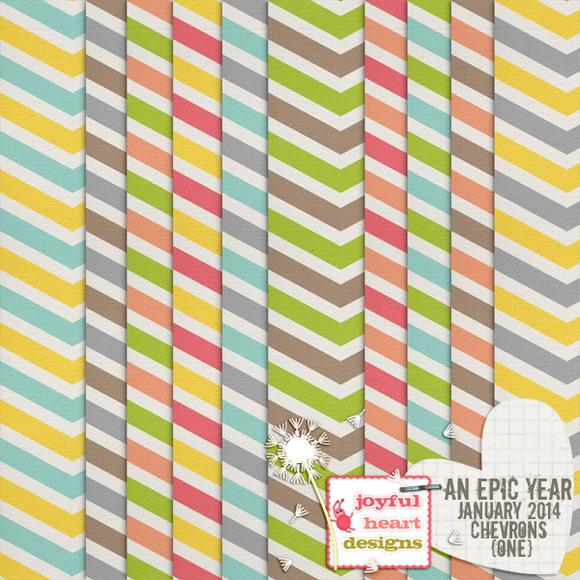 An Epic Year-Jan. {clean chevrons} - Patterns