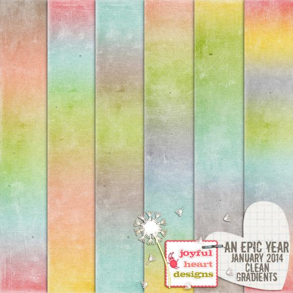 An Epic Year-Jan {clean Gradients}