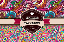Samless abstract hand-drawn patterns