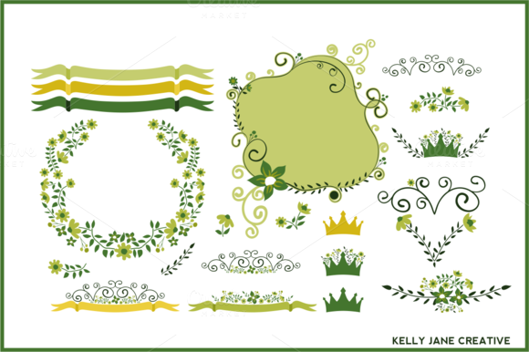 St. Patrick's Day Florals - Illustrations