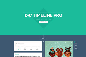 WordPress theme DW Timeline Pro