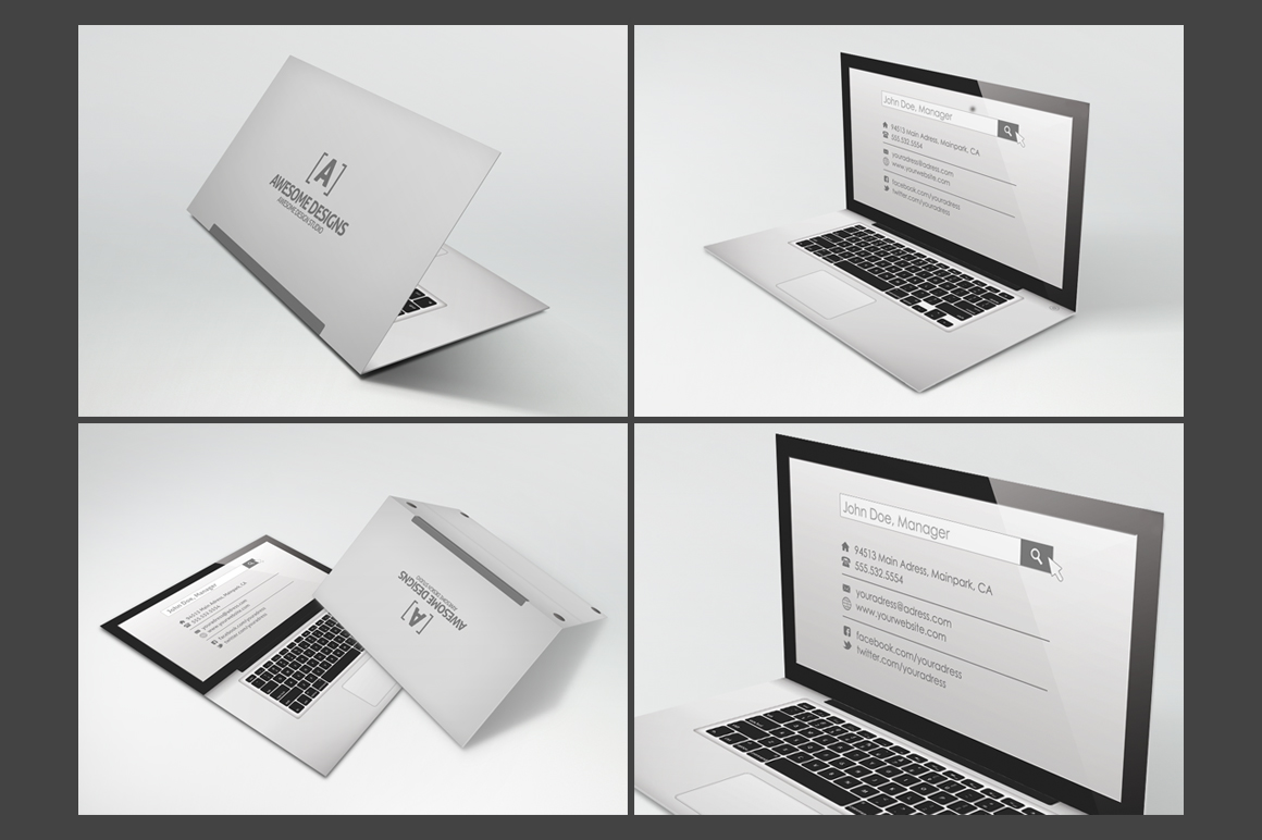 folding business cards template - Military.bralicious.co