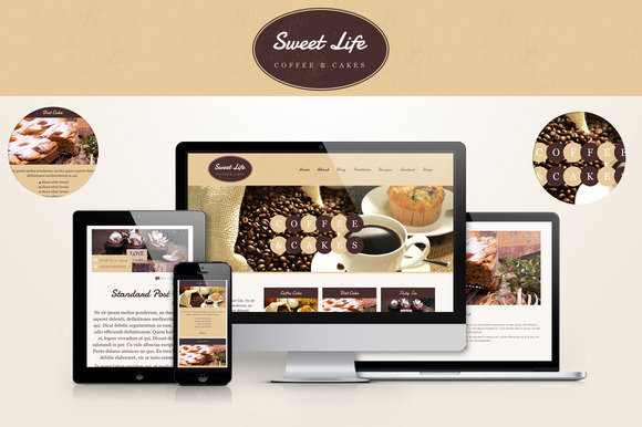 Sweet Life-Cafe Restaurant WP Theme