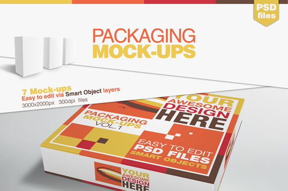 Packaging Mock-ups - Product Mockups - 1