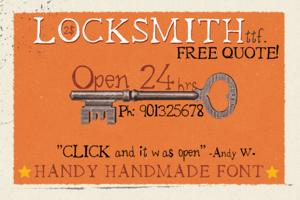 Locksmith Font
