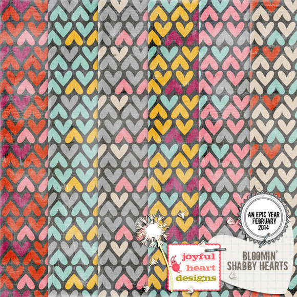 An Epic Year-Feb. {bloomin' hearts} - Patterns