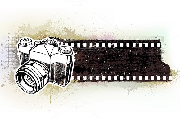 Handcrafted Retro Camera Banner