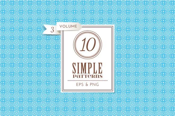 Set Of 10 Simple Patterns Vol 3