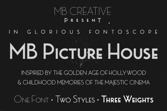 MB Picture House One Font Download Free / LegionFonts