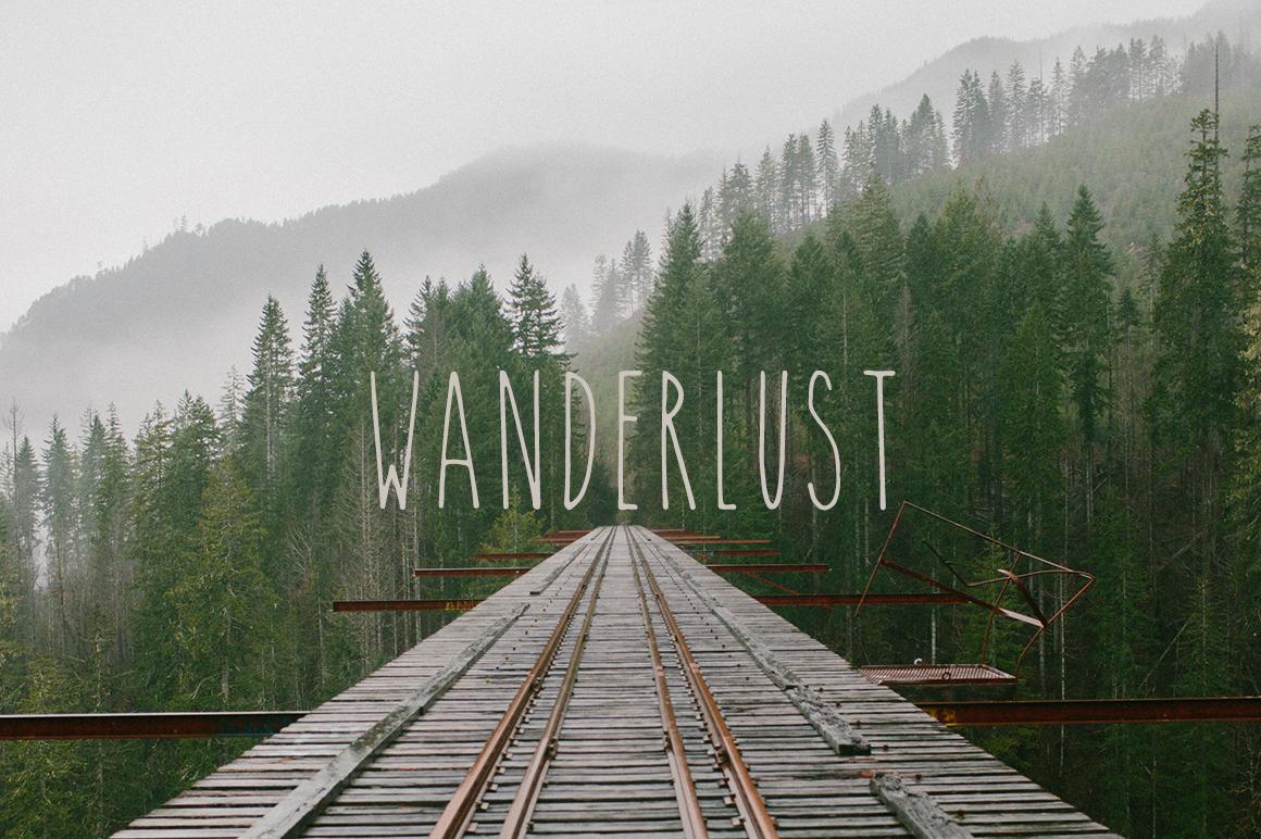 Wanderlust ~ Script Fonts on Creative Market