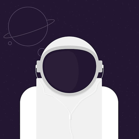 Spaceman-Printable Digital Images - Illustrations