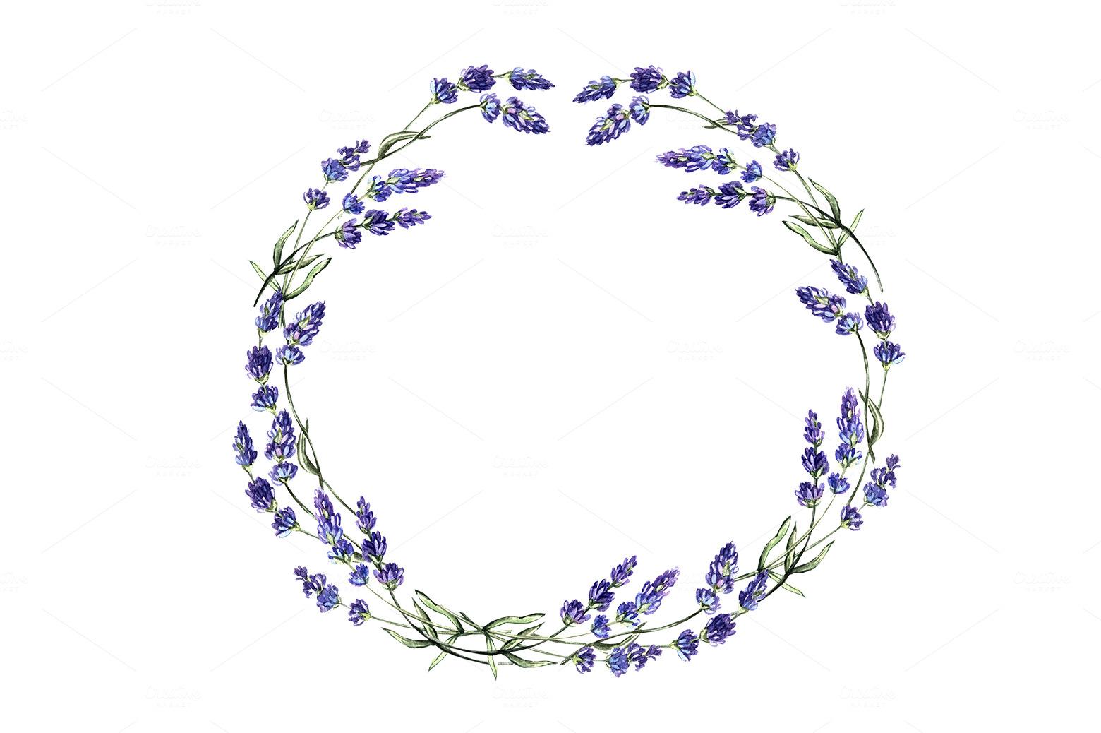 Vintage Lavender Illustration Wreath-with-lavender-flowers-m ...