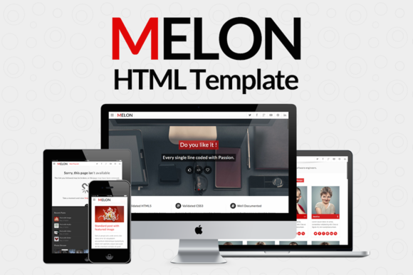 Melon Responsive Website Template