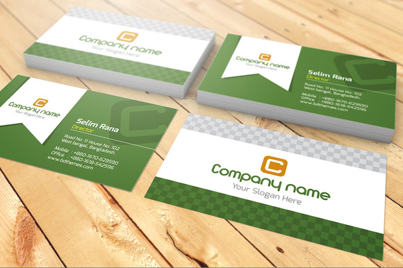 Company Name Visiting Card ~ Business Card Templates on Creative ...