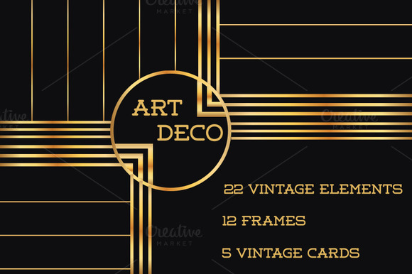 37 Art Deco Design Elements Vol.1 - Illustrations