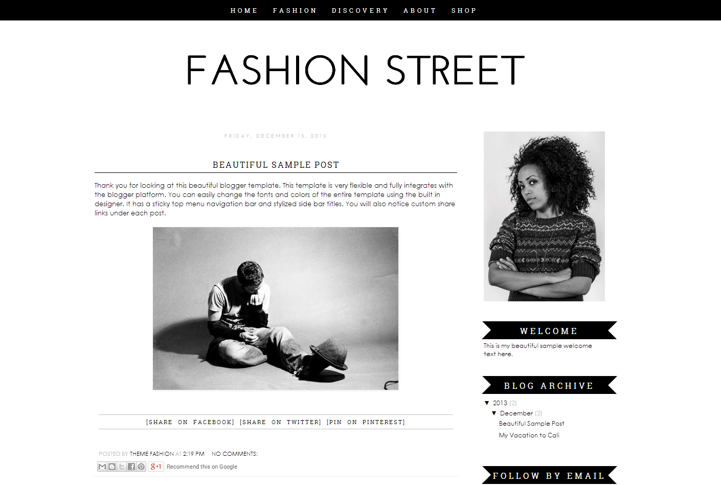 Blogger Template   Fashion Street   Themes on Creative Market MT3ABLMM