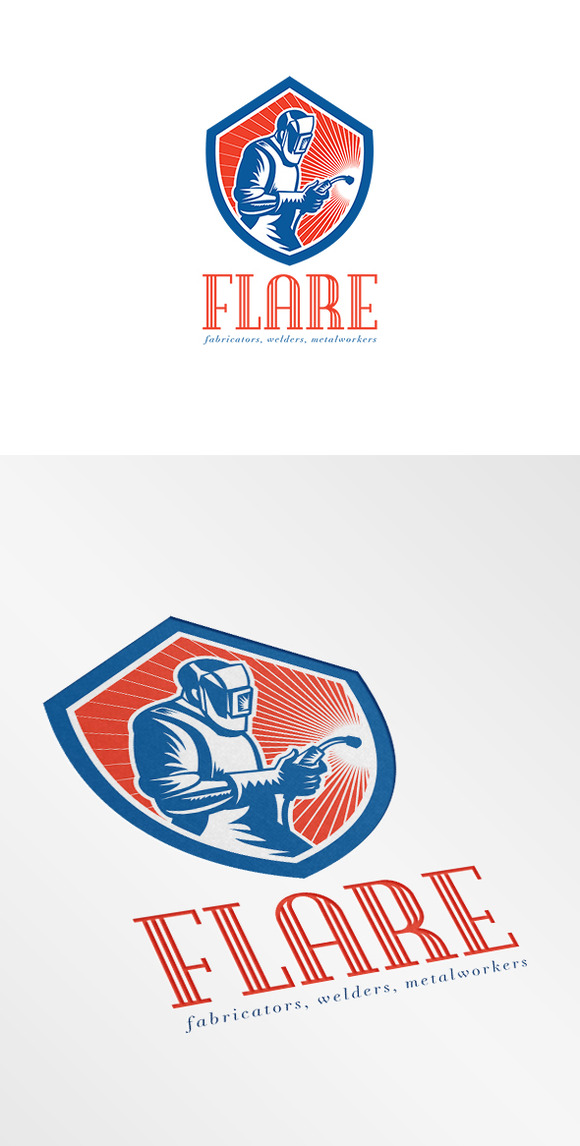 Welder Fabricator Welding Logo ~ Logo Templates on ...