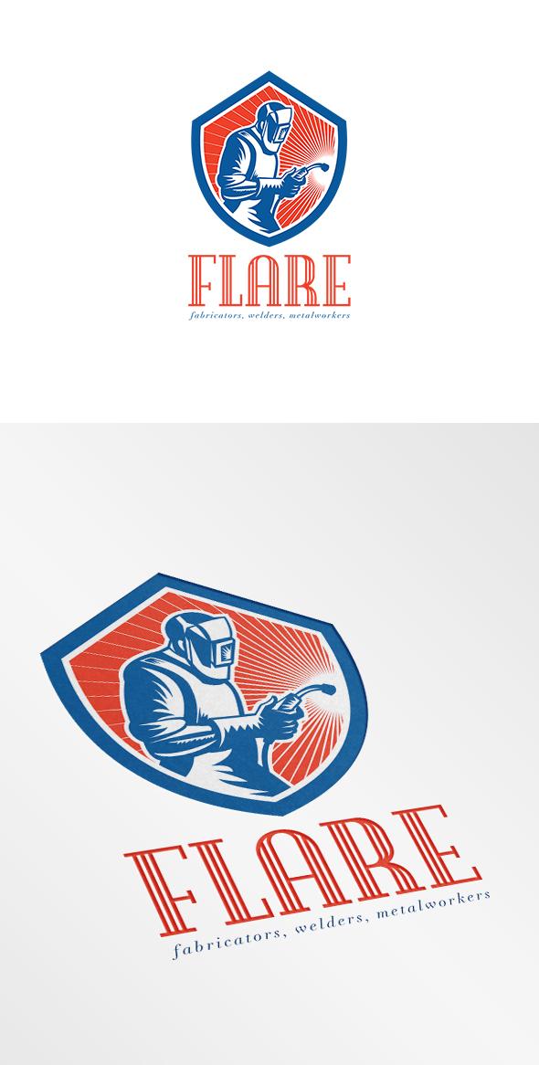 welder fabricator welding logo