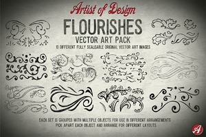 Flourishes Vector Art Pack