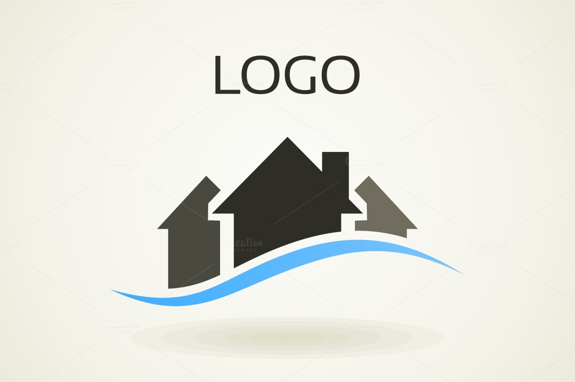 House Building Logo Templates On Creative Market