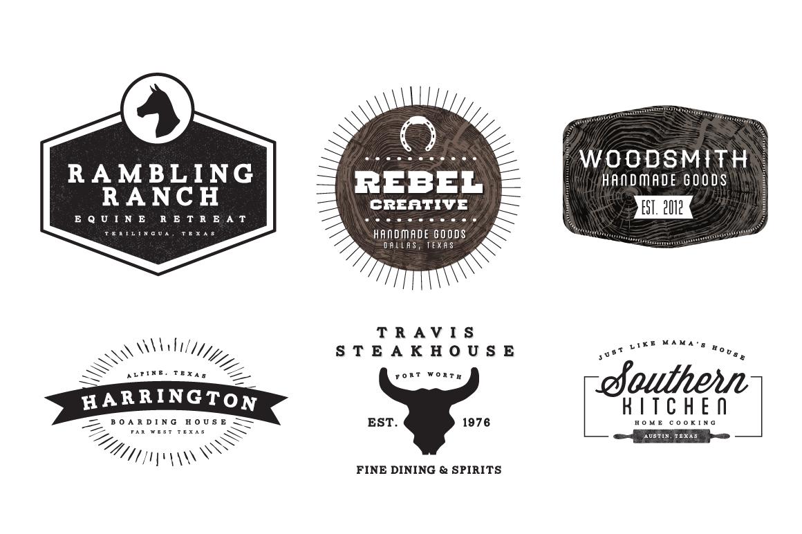 Western Logos ~ Logo Templates on Creative Market