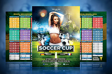 Soccer Cup 2014 Flyer with Fixture