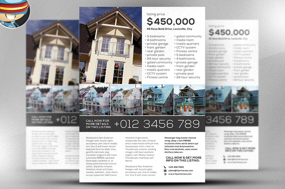 Creativemarket Simple Real Estate Flyer Template 29165 Graphic