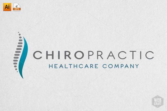chiropractic logo template   logo templates on creative market chiropractic logos free chiropractic logos with kids
