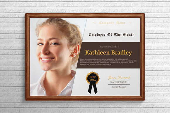 free employee of the month templates free custom employee of the month certificate employee of the month - Certificate Of Employee Of The Month Template
