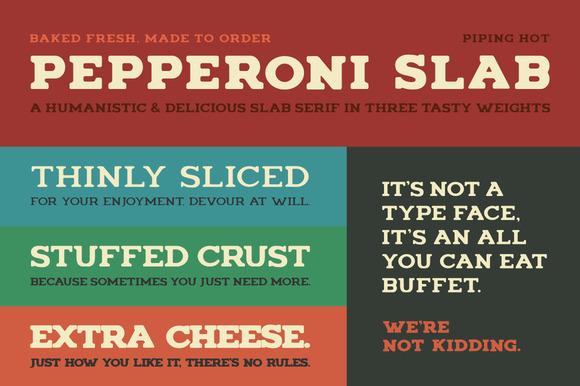 免费字体 Pepperoni Slab丨反斗限免