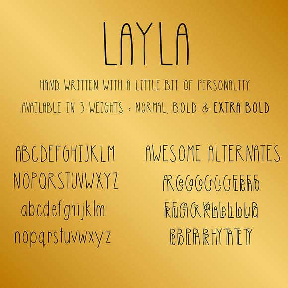 免费字体 Layla丨反斗限免