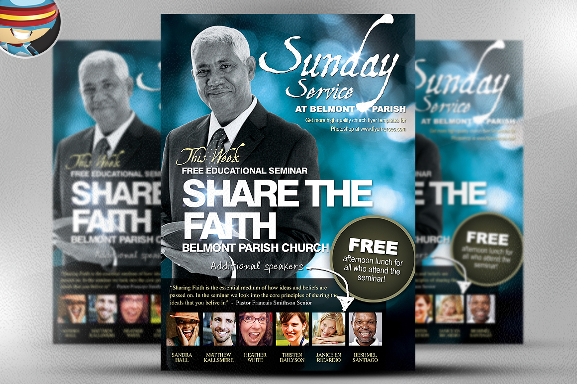 Free Church Flyer Templates | TeamTracTemplate's