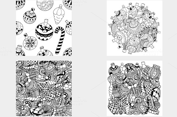 Set Christmas toys. Vector. Vol. 3 - Objects