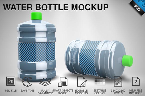 Water Bottle Mockup 02