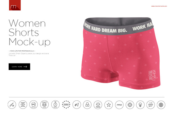 Women Shorts Mock-up