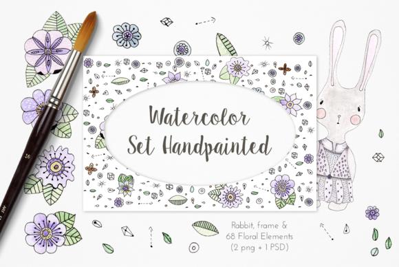 Watercolor Set Handpainted Gloria