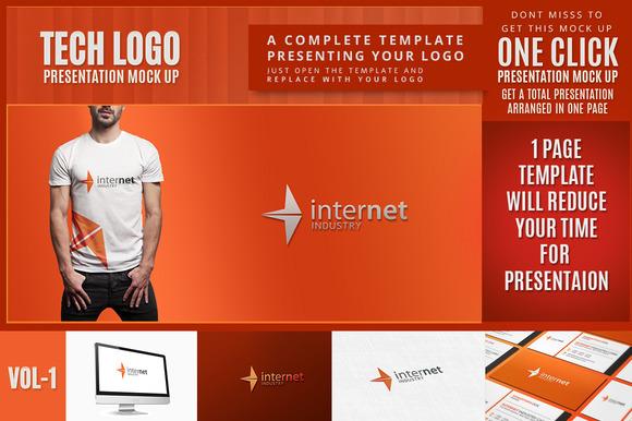 Time Saving Tech Logo Mock-up Vol.1 - Product Mockups
